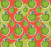 Big fresh green apple by AldanNi