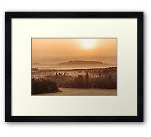 Saturday sunrise Framed Print