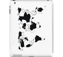 World map in animal print design, black and white iPad Case/Skin
