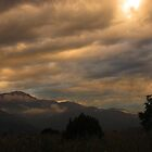 Sunset Over Pike's Peak by dfrahm