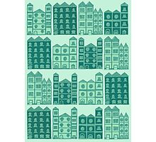 Busy Body House Pattern Photographic Print