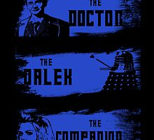 The Doctor,The Dalek,The Companion by JimmyG17