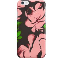 Flower acrylic pattern pink iPhone Case/Skin