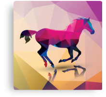 Geometric polygonal horse, pattern design Canvas Print