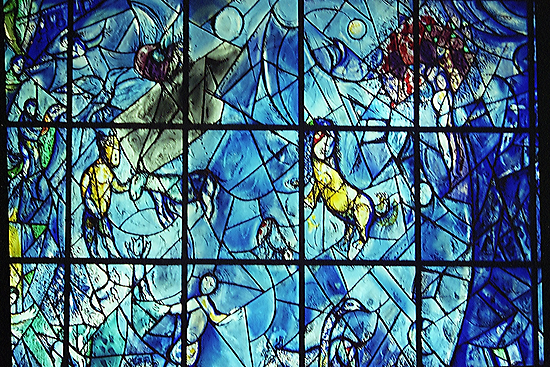 Marc Chagall Stained Glass, UN Building, New York city. by Maggie Hegarty
