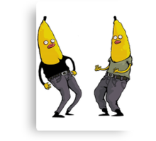 bananas in regular clothing Canvas Print
