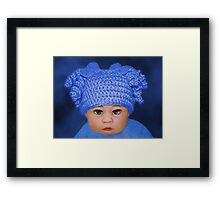 ADORABLE BABY BLUE - PICTURE - CARD Framed Print