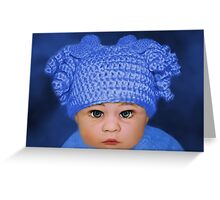 ADORABLE BABY BLUE - PICTURE - CARD Greeting Card