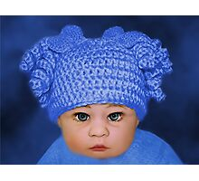 ADORABLE BABY BLUE - PICTURE - CARD Photographic Print