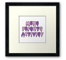 Men's Frights Activist Framed Print