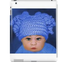 ADORABLE BABY BLUE - PICTURE - CARD iPad Case/Skin