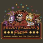 Freddy Fazbear's Pizza by ninjaink