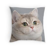 Heavy Breathing Cat Throw Pillow