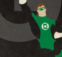 Green Lantern - Superhero Minimalist Alphabet Print Art Sticker