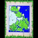 Mining Map Twin Size Duvet  by Sophersgreen