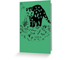 Marsupial Cat - The Spotted Tailed Quoll Greeting Card