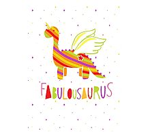 Fabulousaurus Photographic Print