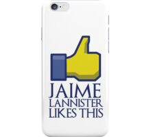 Jaime Lannister likes this (gold thumbs up) iPhone Case/Skin