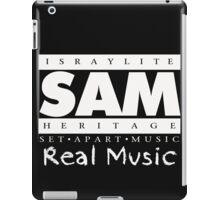 SAM REAL MUSIC  WHITE iPad Case/Skin