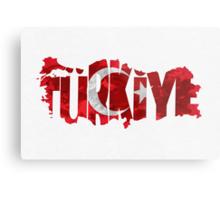 Turkey Typographic Map Flag Metal Print