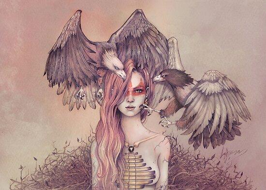 Eagle princess by LorenAssisi