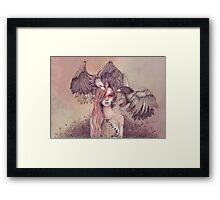 Eagle princess Framed Print