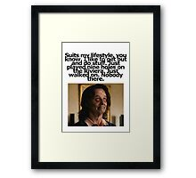 Bill Murray - Zombieland - Golf Quote Framed Print