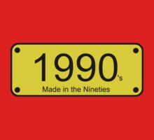 Born in the Nineties T-Shirt - 90s Number License Plate Card by deanworld
