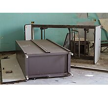 abandoned hospital bed Photographic Print