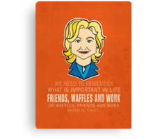 Friends Waffles and Work Canvas Print