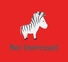 Not Impressed Zebra by Eggtooth