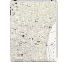Vintage Map of Philadelphia (1885) iPad Case/Skin