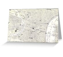 Vintage Map of Philadelphia (1885) Greeting Card