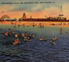 Vintage Pontchartrain Beach Artwork  by BravuraMedia