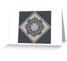 Dark and Light Symmetric Flowers Greeting Card