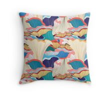 pattern with mushrooms  Throw Pillow