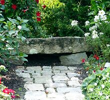 Garden Stone Bench by phil decocco