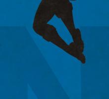 Nightwing - Superhero Minimalist Alphabet Print Art Sticker