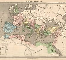 Vintage Map of The Roman Empire (1838) by BravuraMedia