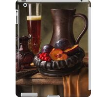 Still Life with Beer, Cranberries, Plums & Pomegranate iPad Case/Skin