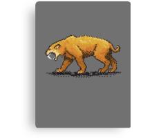 Prehistoric Pixels - Smiledon  Canvas Print