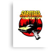Sabotage T Shirt 2.  Canvas Print