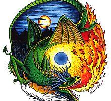 Yin Yang Dragon by David Sanders