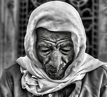 Old Man in Cairo Bazaar by Michael Stiso