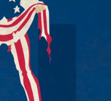 Uncle Sam - Superhero Minimalist Alphabet Print Art Sticker