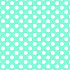 Tiffany Mint Polka Dot Pattern by RexLambo
