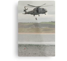 Royal Navy Merlin Helicopter Metal Print