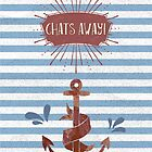 Retro Nautical Anchor iPhone Case by Natalie Kinnear