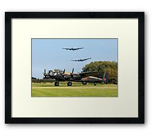 Three Lancasters at East Kirkby Framed Print