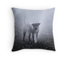 Dogs with game face on .32 Throw Pillow